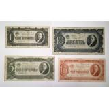 Набор банкнот образца 1937 года 1, 3, 5,10 червонцев СССР