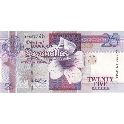 Банкнота 25 рупий, 1998-2008 годов Сейшельские острова.