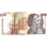 Янез Вайкард Валвасор. Банкнота 20 толаров. 1992 год, Словения.