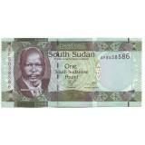 Джон Гаранг де Мабиор. Жирафы. Банкнота 1 фунт. 2011 год, Южный Судан.