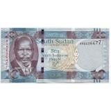 Джон Гаранг де Мабиор. Африканский буйвол. Банкнота 10 фунтов. 2011 год, Южный Судан.