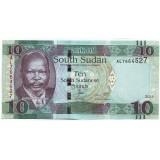 Джон Гаранг де Мабиор. Африканский буйвол. Банкнота 10 фунтов. 2015 год, Южный Судан.