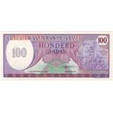 Банкнота 100 гульденов. 1985 год, Суринам.