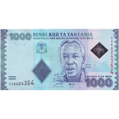 Банкнота 1000 шиллингов, Танзания.