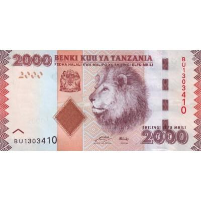 Банкнота 2000 шиллингов, 2010 год Танзания.