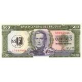 Банкнота 0,5  песо. 1975 год, Уругвай.