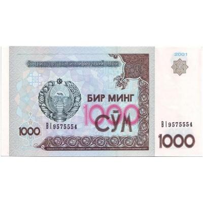 Банкнота 1000 сумов. 2001 год, Узбекистан.
