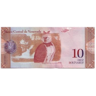 Банкнота 10 боливаров. 2009 год, Венесуэла.