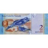 Банкнота 2 боливара. 2008 год, Венесуэла.