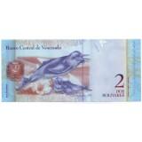 Банкнота 2 боливара. 2012 год, Венесуэла.