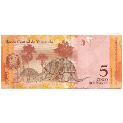 Банкнота 5 боливаров. 2007 год, Венесуэла.