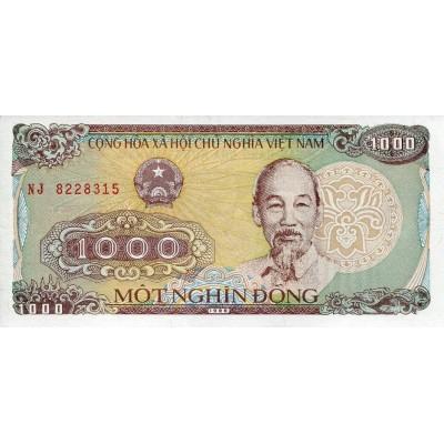 Банкнота 1000 донг. 1988 год, Вьетнам.