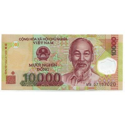Банкнота 10000 донг. 2013 год, Вьетнам.