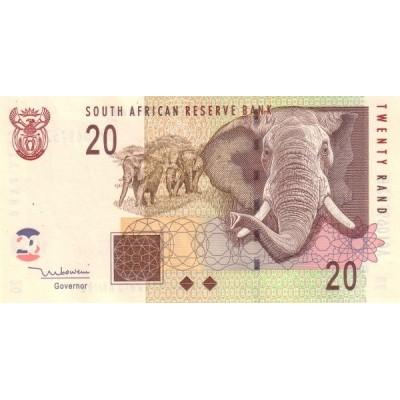 Банкнота 20 рандов. 2005 год, ЮАР.
