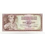 Банкнота 10 динаров. 1978 год, Югославия.