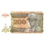 Банкнота 200 зайра. 1994 год, Заир.