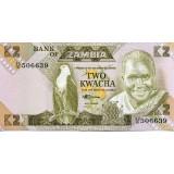 Банкнота 2 квача. Замбия.
