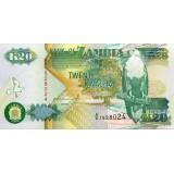 Банкнота 20 квача. 1992 год, Замбия.