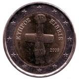 Монета 2 евро. 2009 год, Кипр.
