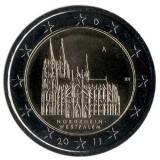 Северный Рейн-Вестфалия. 2 евро, 2011 год, Германия.