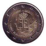 75 лет конкурсу имени королевы Елизаветы. Монета 2 евро, 2012 год, Бельгия.