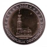 Гамбург. Монета 2 евро, 2008 год, Германия.