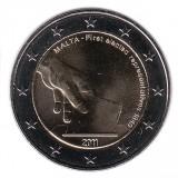 Первые выборы. Монета 2 евро, 2011 год, Мальта.