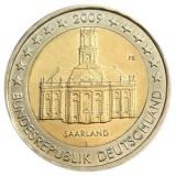 Саар. Монета 2 евро, 2009 год, Германия.