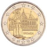 Бремен. Монета 2 евро, 2010 год, Германия.