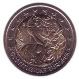 Годовщина принятия конституции ЕС (Евроконституции). Монета 2 евро, 2005 год, Италия.