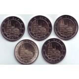 Северный Рейн-Вестфалия. (5 монет) 2 евро, 2011 год, Германия.