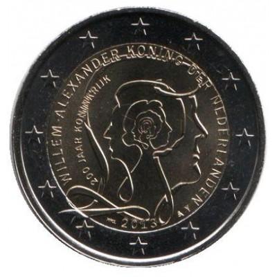200 лет Королевству Нидерландов. Монета 2 евро, 2013 год, Нидерланды.