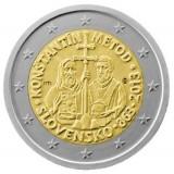 Кирилл и Мефодий. Монета 2 евро, 2013 год, Словакия.