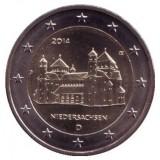 Нижняя Саксония. Монета 2 евро, 2014 год, Германия.