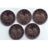 Нижняя Саксония. Набор из 5 монет, 2 евро, 2014 год, Германия.