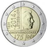 175 лет независимости Люксембурга. Монета 2 евро. 2014 год, Люксембург.