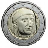 700 лет со дня рождения Джованни Боккаччо. Монета 2 евро, 2013 год, Италия.