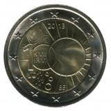 100 лет метеорологическому институту. Монета 2 евро, 2013 год, Бельгия.