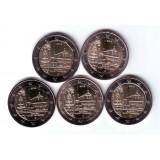 Монастырь Маульбронн, земля Баден-Вюртемберг. Набор из 5 монет, 2 евро, 2013 год, Германия.