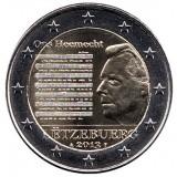 Национальный гимн Люксембурга. Монета 2 евро, 2013 год, Люксембург.