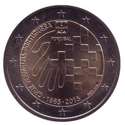 150 лет Красному кресту. Монета 2 евро, 2015 год, Португалия.