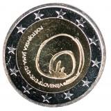 800 лет со дня открытия пещеры Постойна (Постойнска-Яма). Монета 2 евро, 2013 год, Словения.