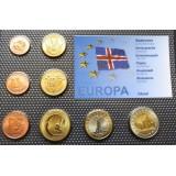 Набор пробных евро  Исландии 2004 года в блистере
