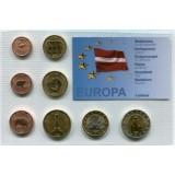 Набор пробных евро Латвии 2006 года в блистере