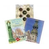 Набор пробных евро Латвии  2004 года в буклете