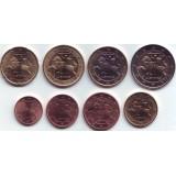 Набор монет евро (8 шт). 2014 год, Литва.
