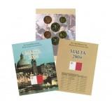 Набор пробных евро Мальты 2004 года в буклете (Вариант 2)