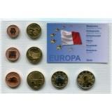 Набор пробных евро Мальты 2006 года в блистере