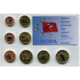 Набор пробных евро Острова Мэн 2006 года в блистере