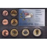 Набор пробных евро БАТ (Британкские  Антарктические Территории) 2012 года в блистере
